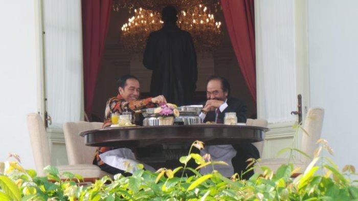 Jokowi Sarapan Pagi Bareng Surya Paloh Sambil Bicara 3 Masalah Ini