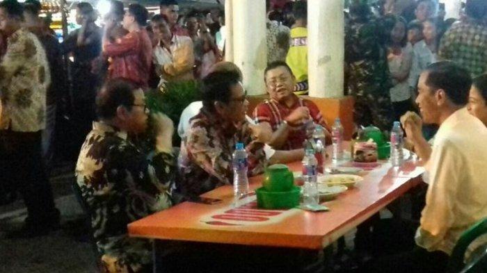 Jokowi Tiba-tiba Makan Malam di Warung Emperan, Penjual Nasi Merasa Seperti Mimpi