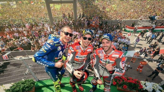 Klasemen Sementara Usai MotoGP Italia 2018, Valentino Rossi Tempel Marc Marquez di Posisi Puncak