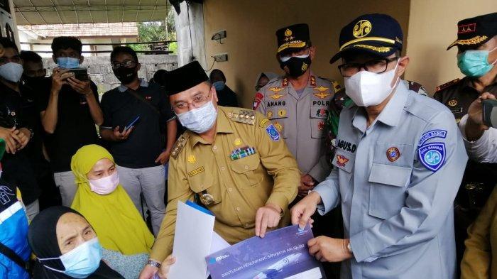 Jasa Raharja Bangka Belitung Serahkan Santunan Korban Sriwijaya Air SJ-182