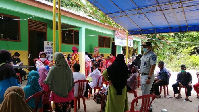 PT Jasa Raharja Cabang Kepulauan Bangka Belitung bersama Polda Kepulauan Bangka Belitung bersinergi memberikan pelayanan kesehatan gratis serta bakti sosial kepada masyarakat di Pulau Nangka, Kecamatan Sungaiselan, Kabupaten Bangka Tengah