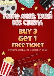 Rindu Nonton Bioskop, Bes Cinema Tawarkan Promo Beli 3 Tiket, Gratis 1 Tiket Nonton