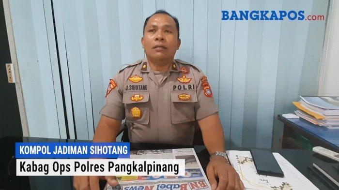 Kabag Ops Polres Pangkalpinang Kompol Jadiman Sihotang Beri Tips Menghindari Begal