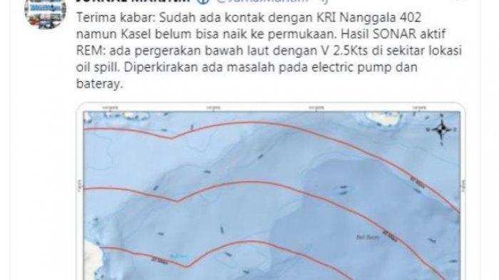 Kabar Gembira, Kapal Selam KRI Nanggala 402 Dikabarkan Hilang Sudah Ditemukan
