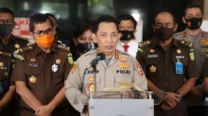Kabareskrim Komjen Listyo Sigit Prabowo saat konferensi pers di Gedung Bareskrim, Jakarta Selatan, Kamis (17/9/2020).