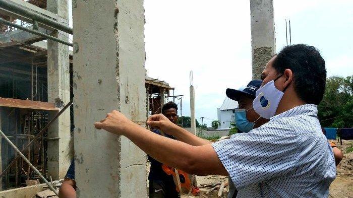 Jembatan Gantung Ambruk , Kepala Dinas Kesehatan Pangkalpinang Tinjau Pembangunan Dua Proyek Dinkes