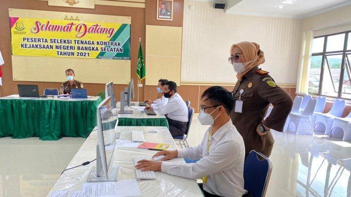 Hari Ini 892 Pendaftar Bersaing Ketat Ikuti SeleksiTenaga Kontrak di Kejari Bangka Selatan
