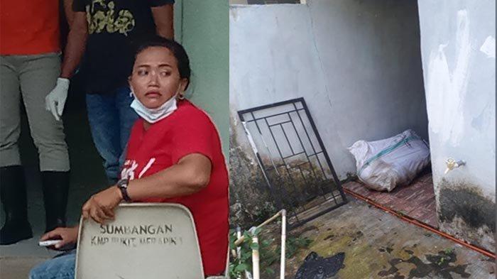 Ita, (baju merah) kakak korban saat mendatangi ruang otopsi jenazah di RSUD Depati Hamzah, Sabtu (14/11/2020)