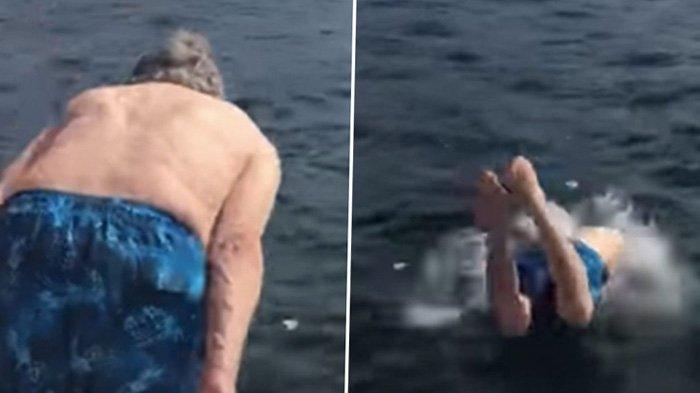 Jadi Viral, Kakek Usia 102 Tahun Masih Kuat Berenang dan Menyelam, Sang Cucu Ungkap Rahasiannya