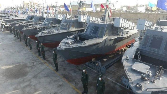 Iran Tambah Armada Laut Tempur, 340 Kapal Cepat Dilengkapi Rudal dan Drone Kamikaze