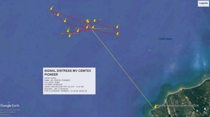 Satu Tim Basarnas Diturunkan, Lakukan Cek Terhadap Kapal yang Kirim Sinyal ke Satelit