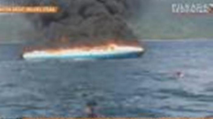 Usai Mencuri Minyak di Tengah Laut, Kapal Nona Tang II Terbakar di Pelabuhan