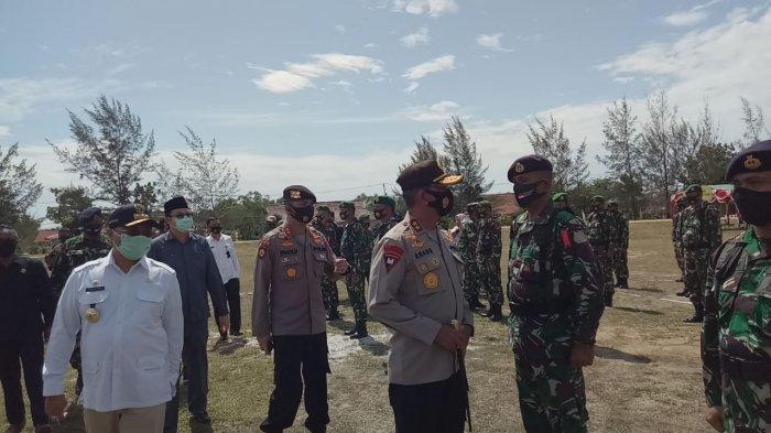 Terus Ingatkan Pencegahan Covid-19, Kapolda Cek Kesiapan Pengamanan Pilkada Bangka Barat