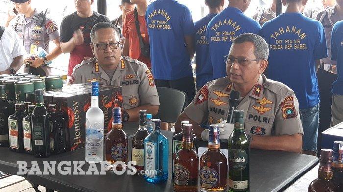BREAKING NEWS, Polairud Bangka Belitung Bekuk Dua Penghubung Ribuan Miras Selundupan
