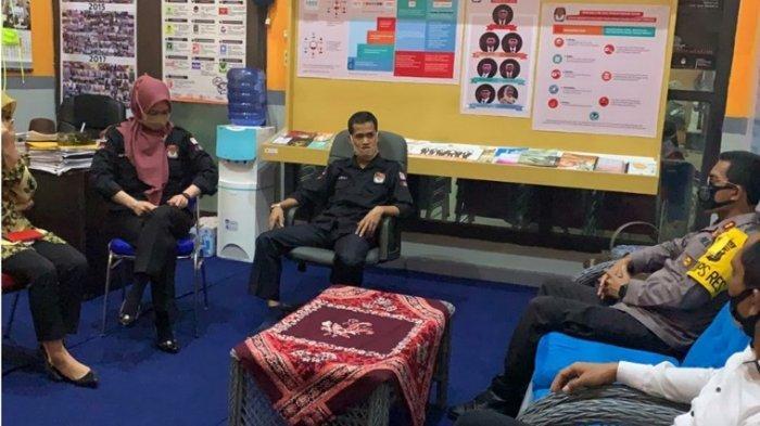 Kapolres Silaturahmi dan Kordinasi ke KPU dan Bawaslu Babar Jelang Pilkada Bangka Barat 2020