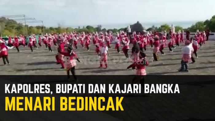 Video Kapolres Bangka Menari Bedincak Bersama Bupati dan Kajari Bangka
