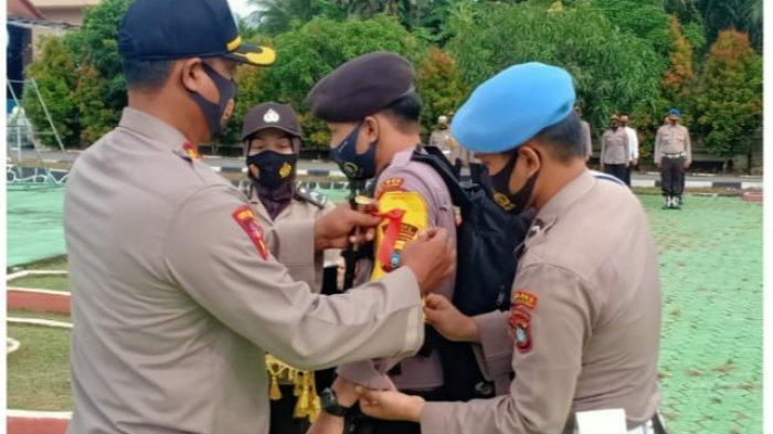 Kapolres Pimpin Apel Serpas Personil Polres Bangka Selatan
