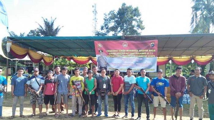 Polsek Kelapa Laksanakan Lomba Menembak Bersama Masyarakat dalam Rangka HUT BHAYANGKARA ke-73