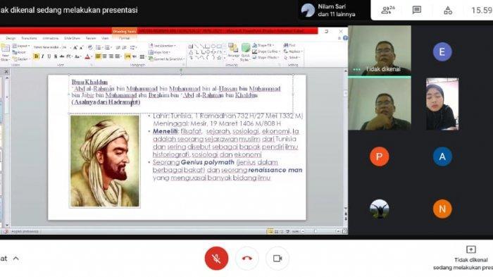 Hima Prodi BKI IAIN SAS Bangka Belitung Sukses Gelar Webinar Tokoh Ilmuwan Muslim Ibnu Khaldun