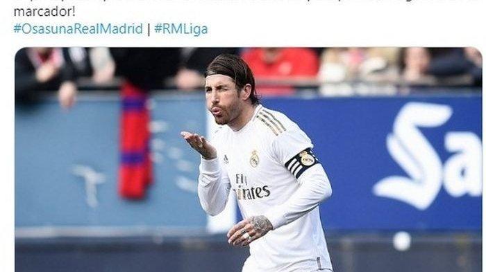 Sergio Ramos Dilempar Korek Api Saat Selebrasi Seusai Cetak Gol