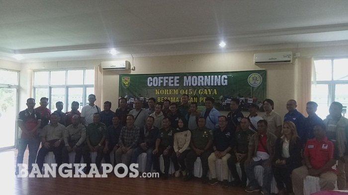 Korem 045 Garuda Jaya Bangka Belitung Coffee Morning Bersama Insan Pers