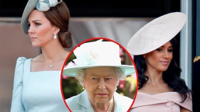 Bikin Sakit Hati, Hubungan Kate & Meghan Memanas, Ratu Elizabeth II Beri Dukungan ke 1 Cucu Menantu