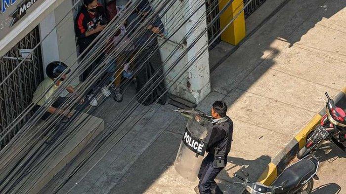 Myanmar Mencekam, Video Kebrutalan Aparat Junta Beredar, Massa Dipukuli Ditembak dari Jarak Dekat