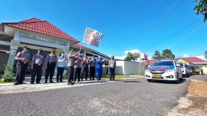 Peringatan Hari Bhayangkara ke-74 Serentak Se-Indonesia, Polres Beltim Salurkan 500 Paket Bantuan