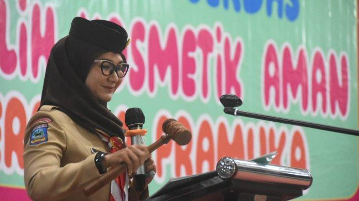 Melati Erzaldi Buka Kegiatan Kampanye Cerdas Memilih Kosmetik Aman Bersama Pramuka