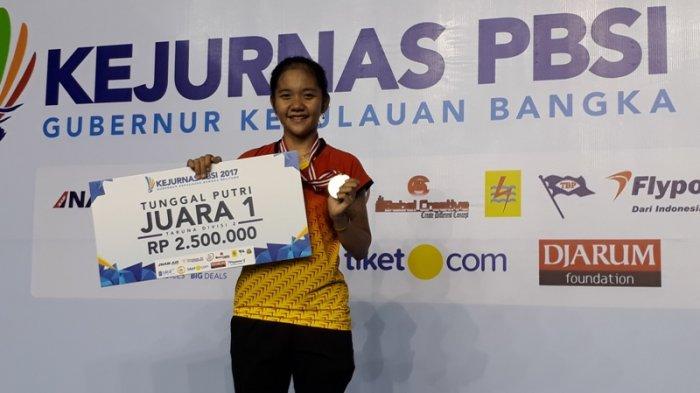 Atlet Bulutangkis Kaltim Raih Medali Emas Divisi II Kejurnas Bangka Belitung