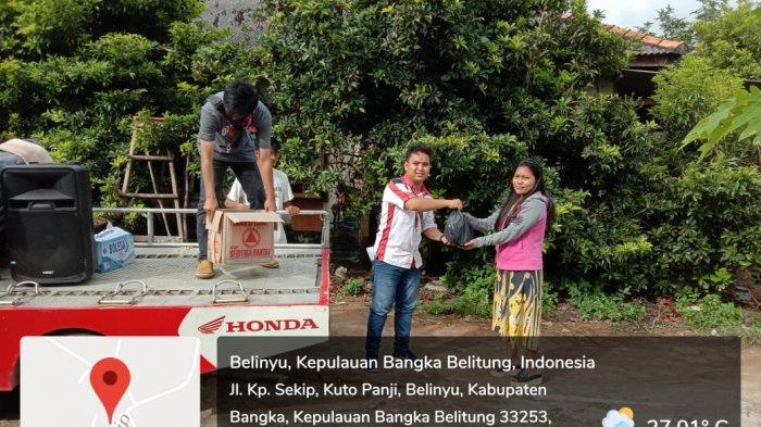 TDM BELINYU Bagi-bagi Sembako, Perkenalkan All New Scoopy