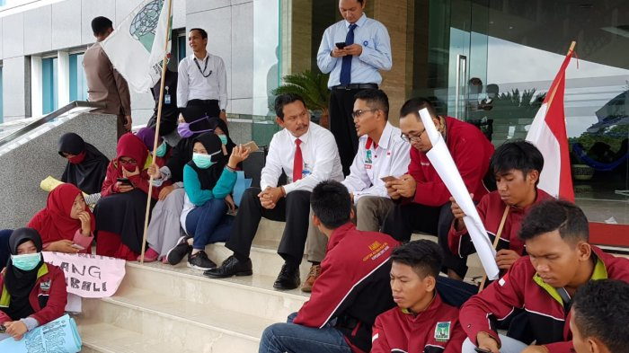Aksi Damai di Pelataran Bank Indonesia KP Babel, KAMMI: Desak Stabilkan Nilai Tukar Rupiah