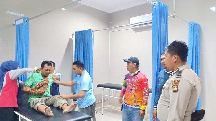 Kondisi Suryadi, Bukan Patah Tulang, Supir Dalmas Satpol PP Sudah Pulang ke Rumahnya di Manggar