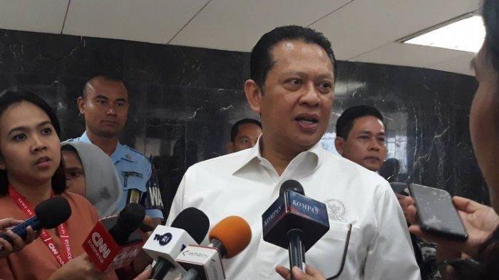 Ketua DPR RI Bambang Soesatyo di Kompleks Parlemen, Senayan, Jakarta Pusat, Rabu (25/9/2019).