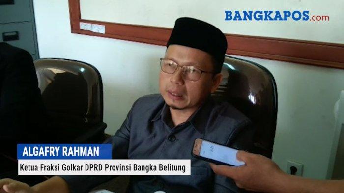 PAW Algafry Rahman di DPRD Bangka Belitung Masih Dalam Proses ke DPP Golkar