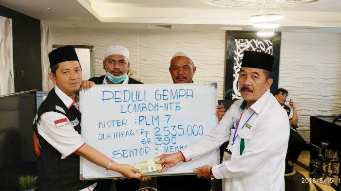 Jemaah Haji Kloter 7 Peduli Korban Gempa Lombok