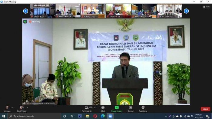 Sekda Bangka Belitung Hadiri Pertemuan Forum Sekretaris Daerah Seluruh Indonesia