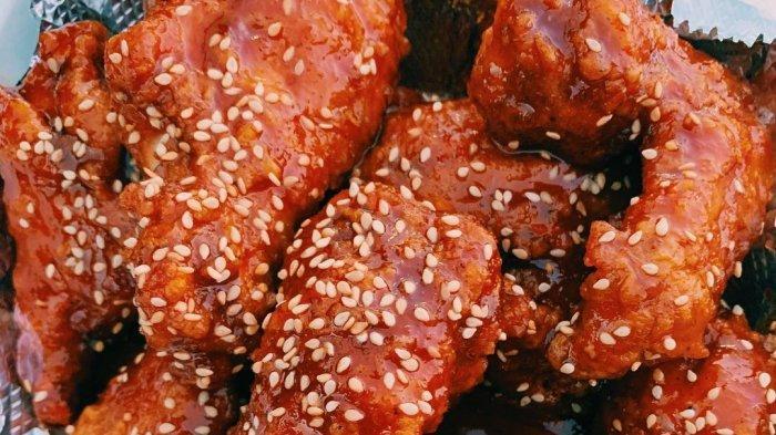 Menu Korean Spicy Wings di K food Bangka