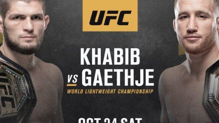 Khabib Nurmagomedov vs Justin Gaethje di UFC 254 pada 24 Oktober 2020.