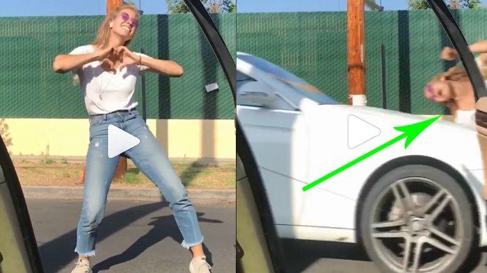 Video Gadis Kiki Dance Challenge Ditabrak Mobil, Ditonton Ratusan Ribu Kali, Hasil Editingkah?