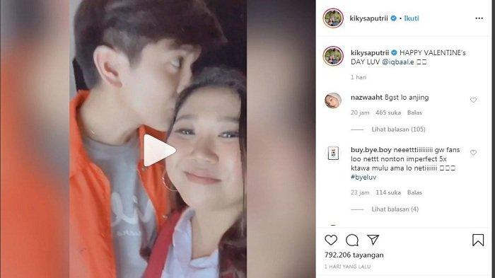 Komika Kiky Saputri Kembali Bikin 'Patah Hati' Nasional Dapat Ciuman Mesra dari Iqbaal Ramadhan