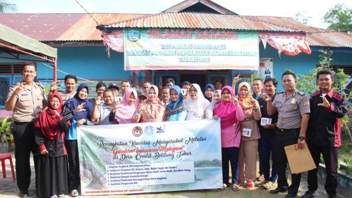 KKN Universitas Bangka Belitung Gelar Sosialisasi Gerakan Tertib Lalu Lintas