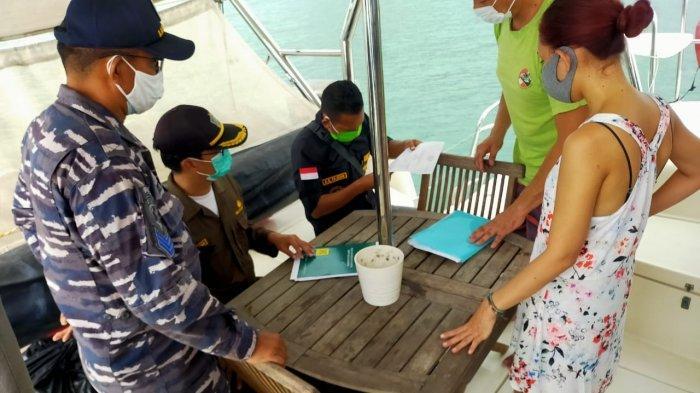 Posal Muntok dan Satgas Angla Covid-19 Periksa Yacth Berbendera Malaysia, 2 Kru Diminta Rapid Test