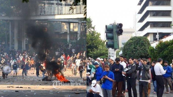 Ulama FPI Bantu Polisi Halau Massa dari Luar Jakarta, Pancing Emosi Aparat dengan Melempar Batu