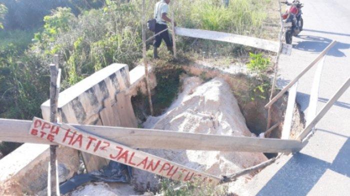 Akses Jalan Menuju Kawasan Wisata Air Terjun Sadap Ambles, Warga Sebut Kerusakan Sudah Lama