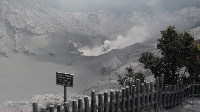 Gunung Tangkuban Parahu Erupsi Tadi Malam, Begini Kondisi Terakhirnya