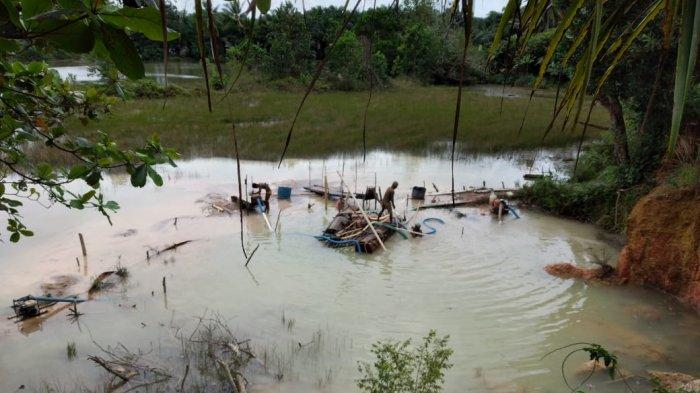 Kembali Beroperasi di Belakang Kantor UPP Perikanan Budidaya, Polsek Pemali Setop Penambangan Ilegal