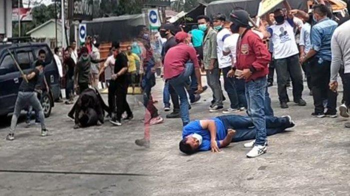 Massa Pendukung Moeldoko Bawa Batu dan Kayu di KLB Partai Demokrat, Massa Pro AHY Lari Kocar-kacir