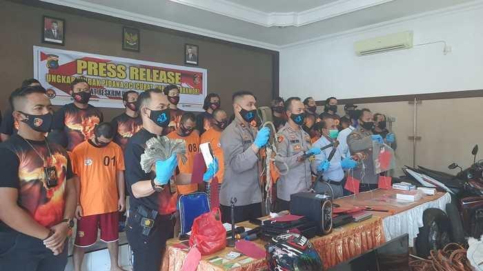 Tim Naga Polres Pangkalpinang Selama Tiga Minggu Berhasil Ungkap 10 Kasus Curas, Curat dan Curanmor