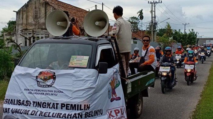 PPK Belinyu Sosialisasikan Pilkada Lewat Konvoi Motor